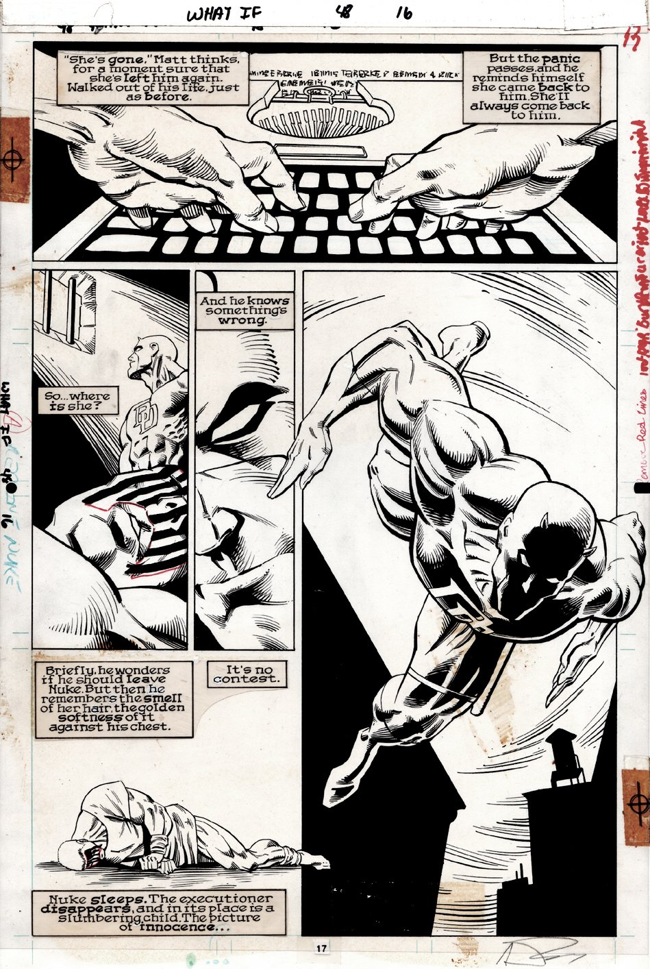 What If...? #48 p 17 Semi-Splash (Great Daredevil Action!) 1993