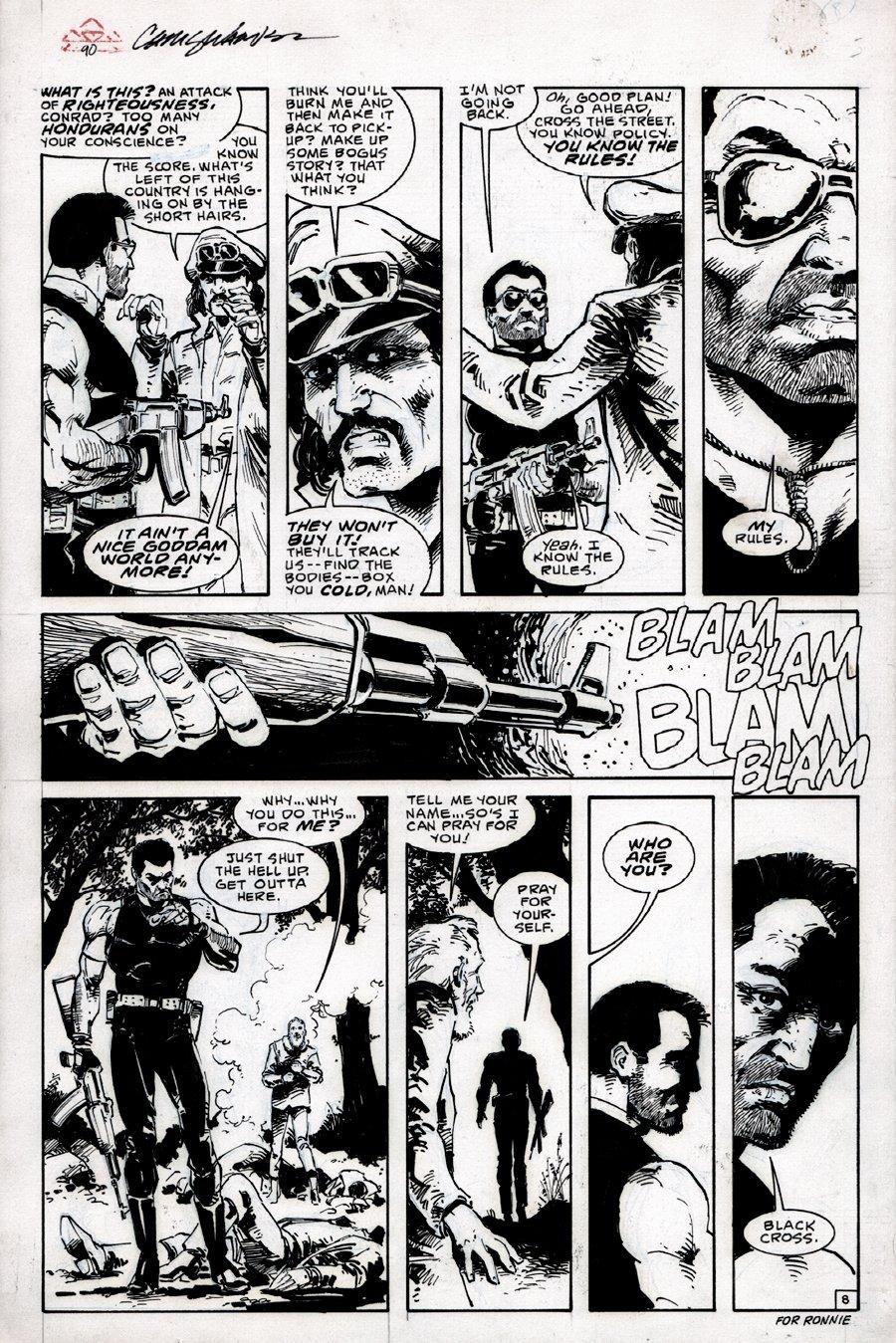 Dark Horse Presents #1 p 8 (FIRST BLACK CROSS APPEARANCE!) 1986!