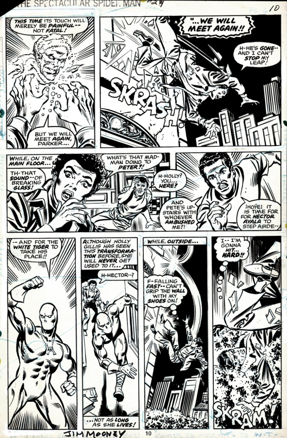Spectacular Spider-Man #29 p 10 (SOLD LIVE ON THE ROMITAMAN ART DROP PODCAST ON 10-9-2021)