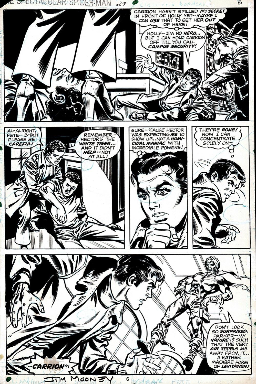 Spectacular Spider-Man #29 p 6 (CARRION traps Peter Parker!) 1979