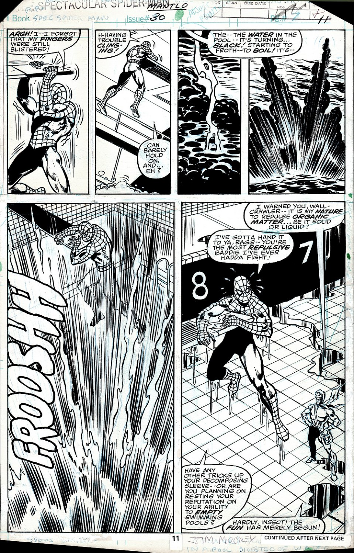 Spectacular Spider-Man #30 p 11 (SPIDER-MAN BATTLES CARRION!) 1979