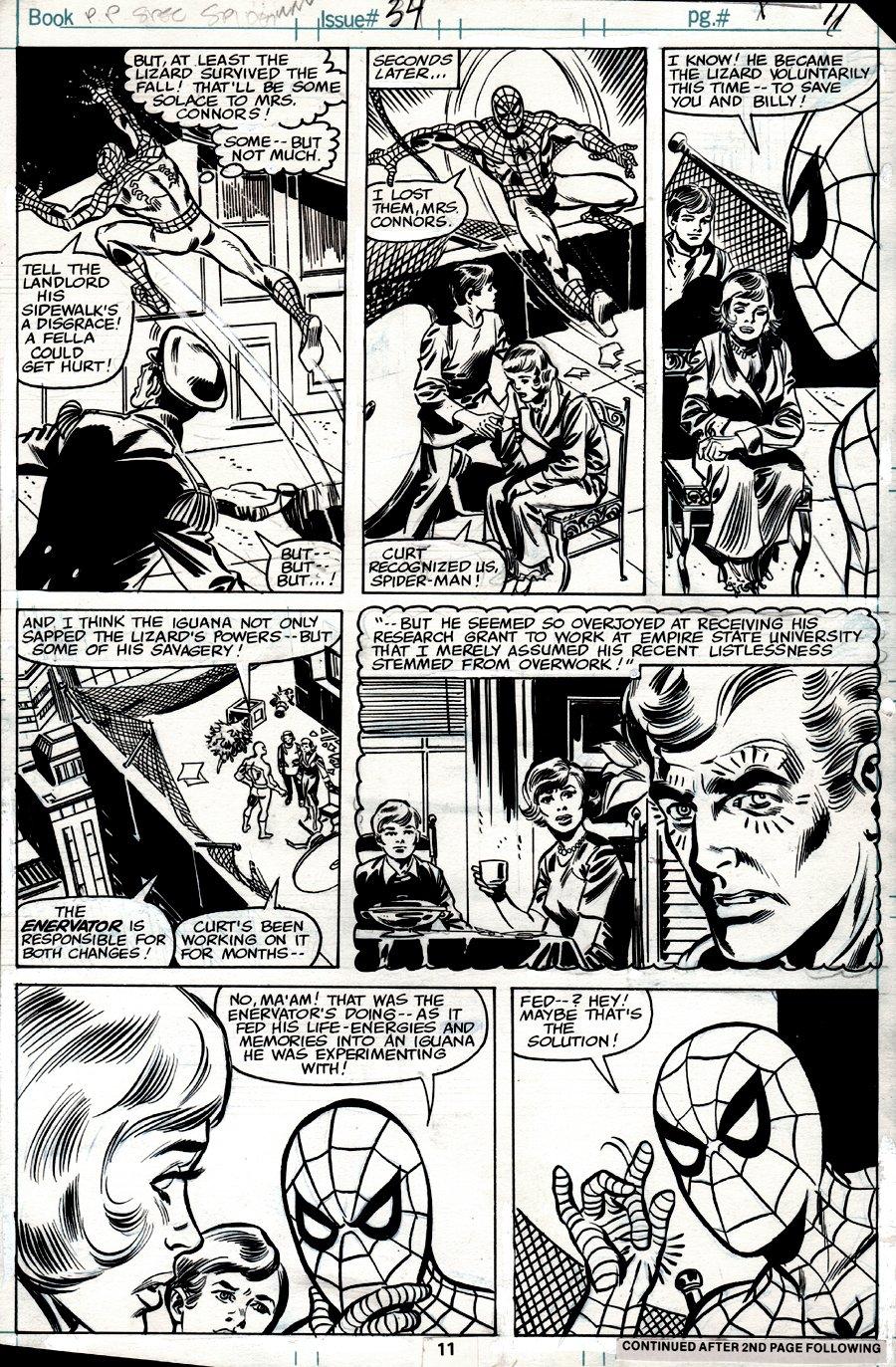 Spectacular Spider-Man #34 p 11 (SPIDER-MAN IN 6 OF 7 PANELS!) 1979