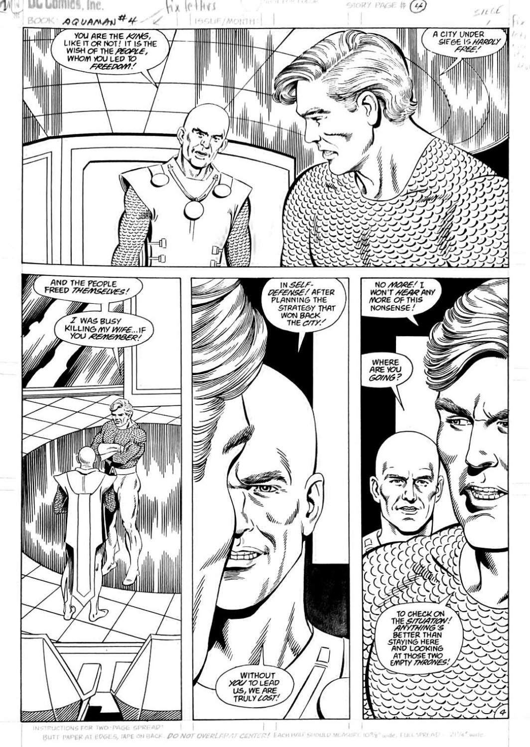 Aquaman #4 p.4(SOLD LIVE ON 'DUELING DEALERS OF COMIC ART' EPISODE #28 PODCAST ON 8-2-2021 (RE-WATCH THIS FUNNY ART SELLING SHOW HERE)