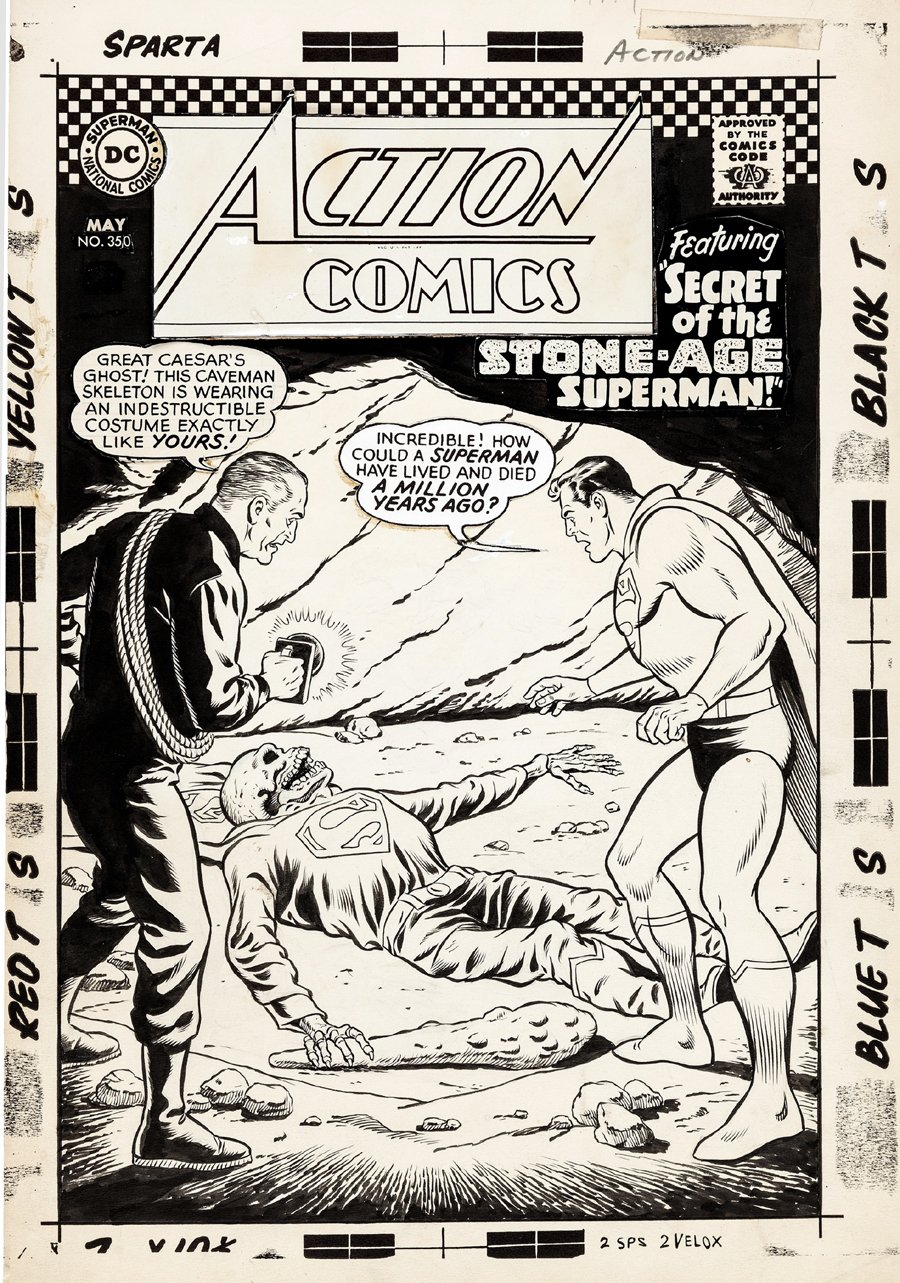 Action Comics #350 Cover (Large Art) 1966