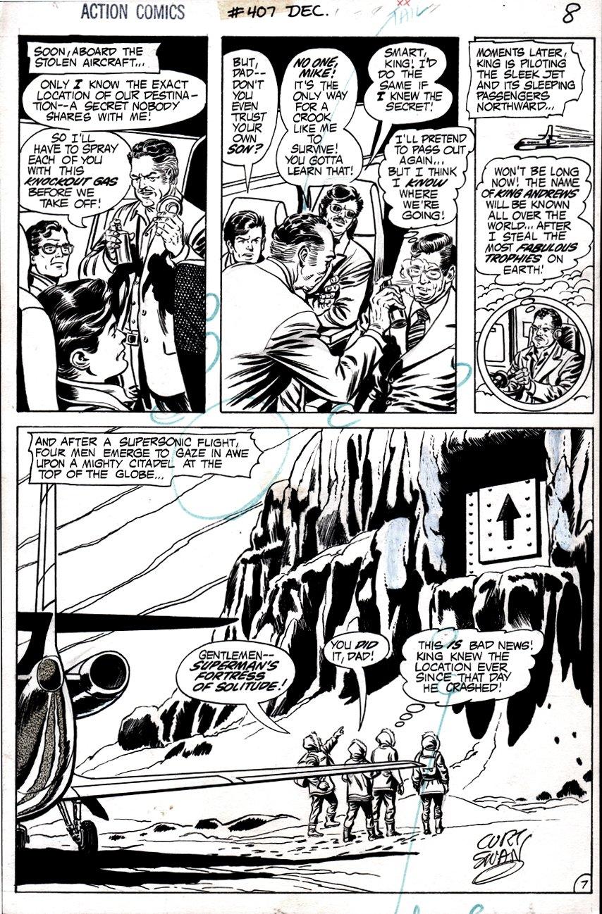 Action Comics #407 p 7 (FORTRESS OF SOLITUDE SEMI-SPLASH!) 1971