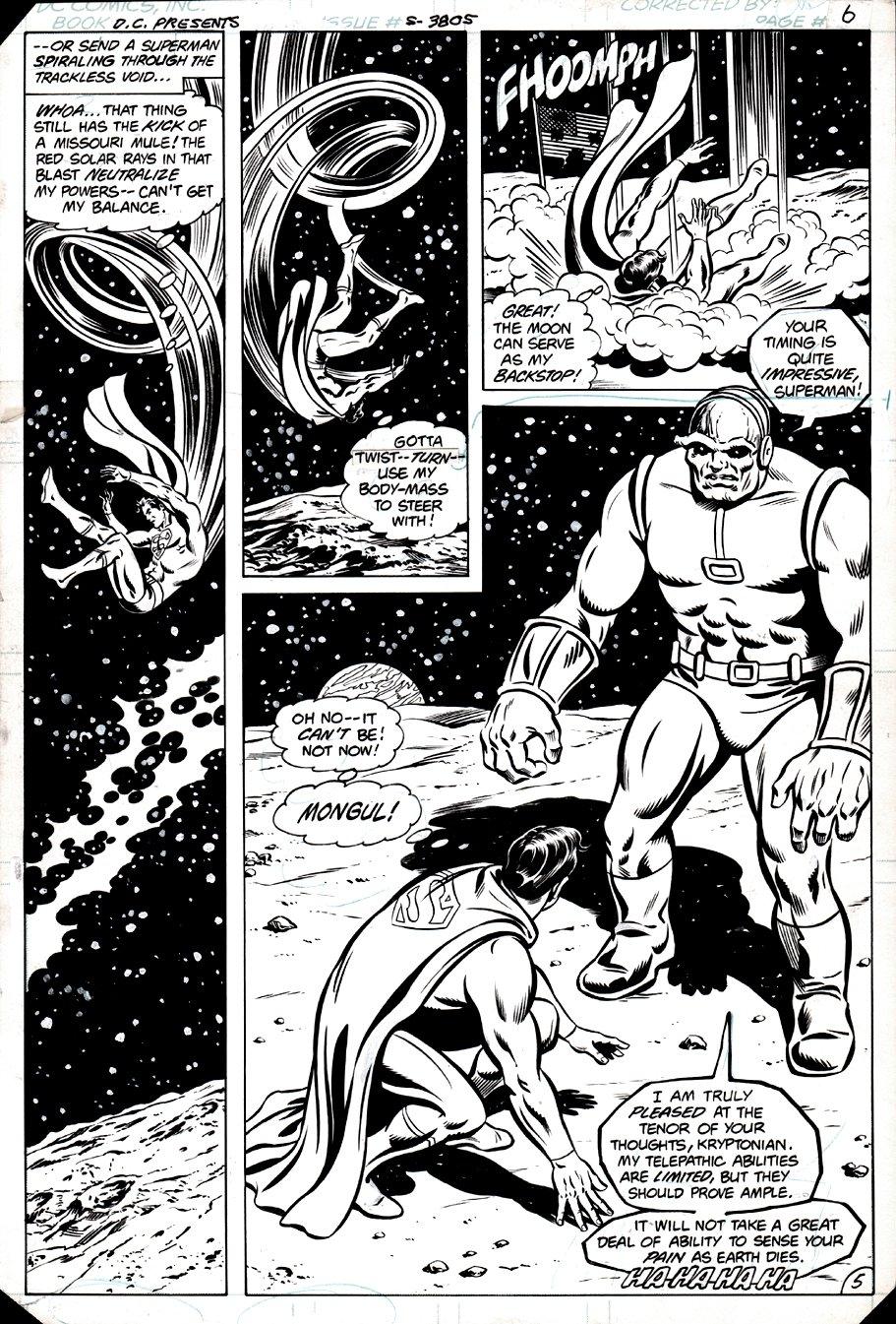 DC Comics Presents #43 p 5 (Semi-Splash, Superman & Mongul!) 1981