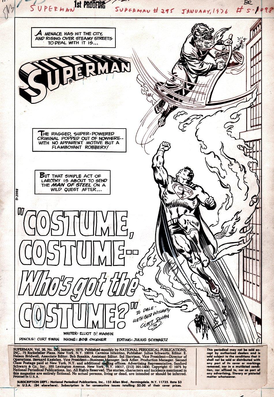 Superman #295 p 1 SPLASH (1975)