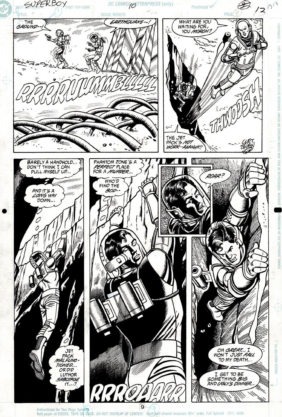 Superboy #10 p 9 (Lex Luthor Sabatages Superboy!) 1990