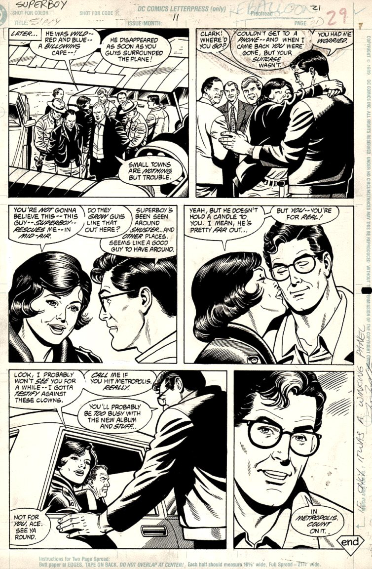 Superboy #11 p 21 (SUPERBOY IN THE CITY OF.....SHUSTER!)