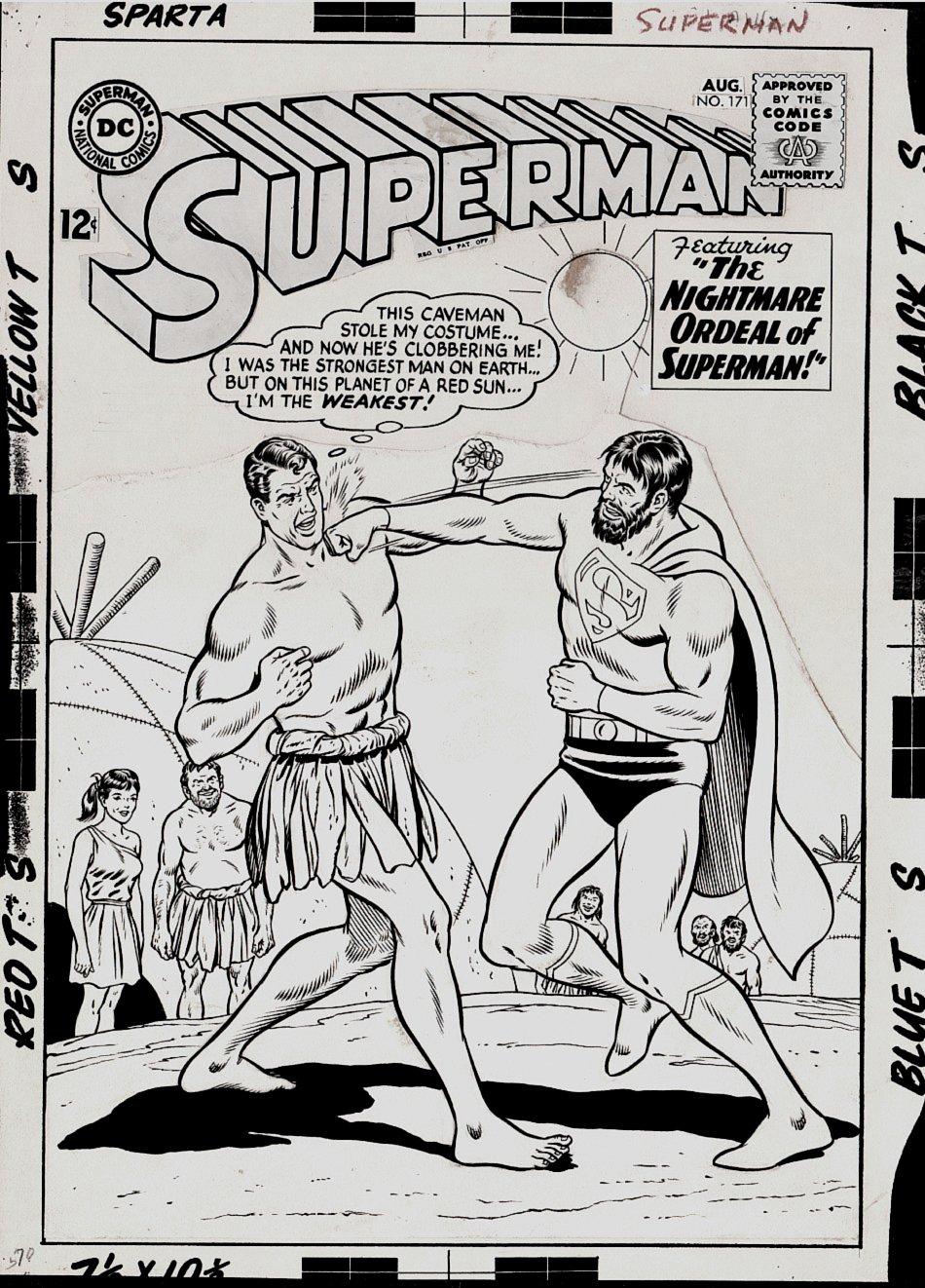 Superman #171 Cover (Large Art) 1964