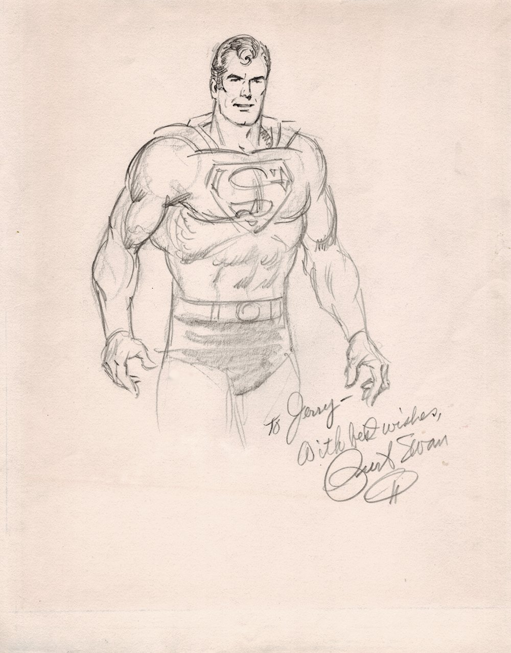 Superman Detailed Pencil Pinup (1970s)