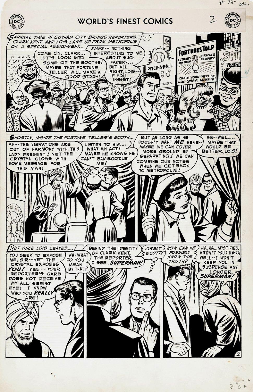 World's Finest Comics #73 p 2 LARGE ART 1954